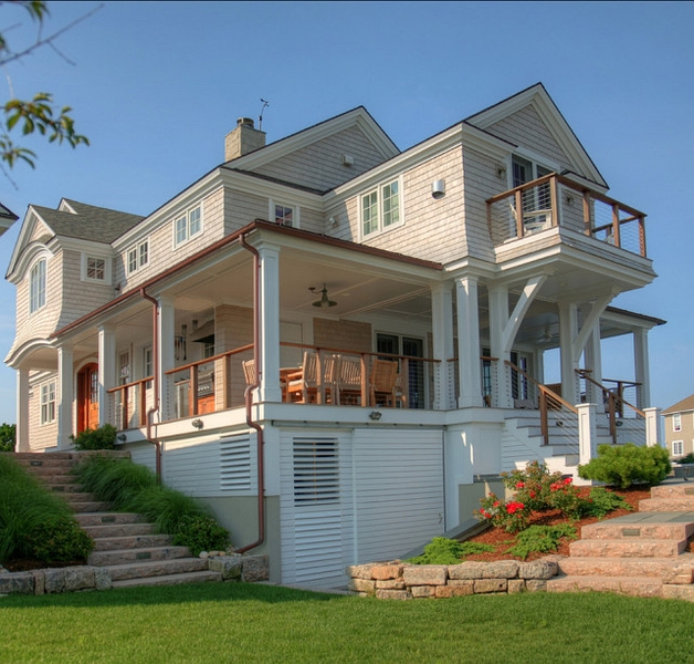 Beach House Interior Finishes Lake Michigan Custom Beach: 12 Maisons Typiques Américaines