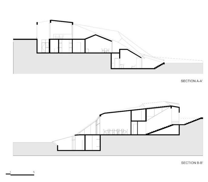 superbe maison enterr e sur un flanc de colline au mexique construire tendance. Black Bedroom Furniture Sets. Home Design Ideas
