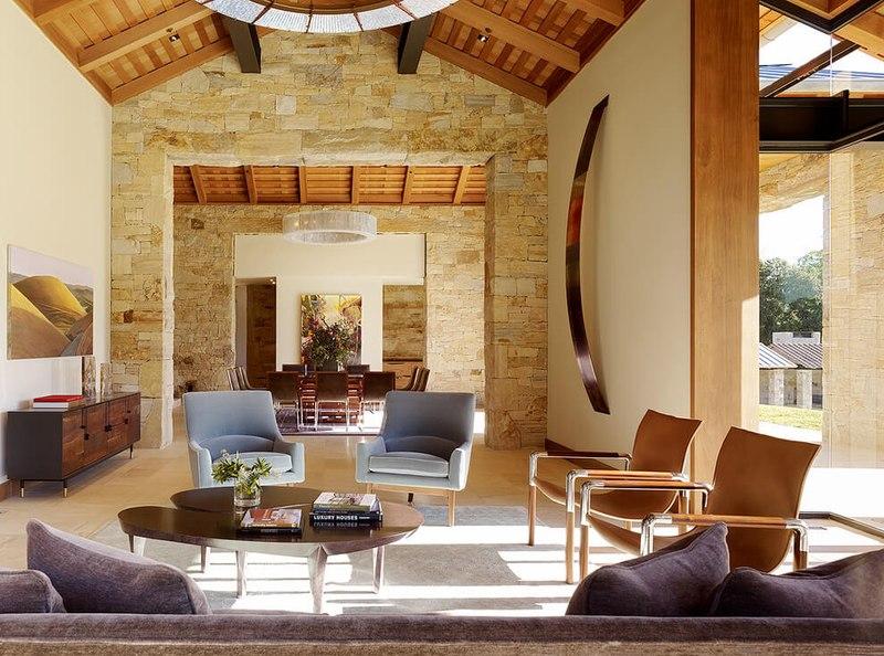 Maison contemporaine en b ton et bois traditionnelle aux usa construire tendance - Salon construction maison ...