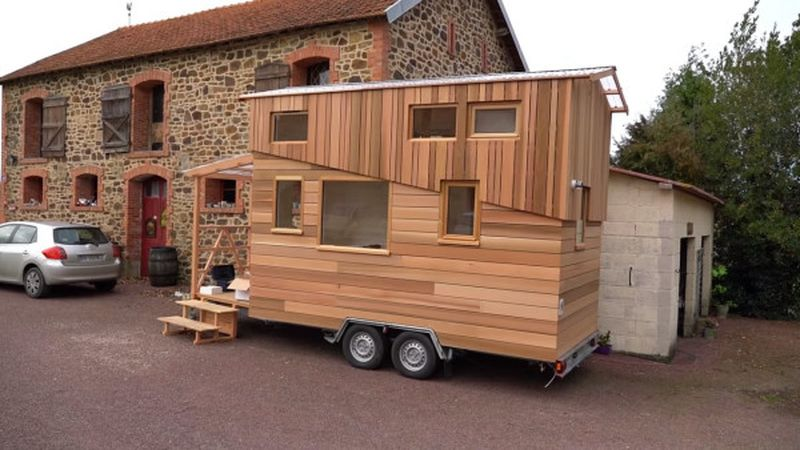 la tiny house de bruno thi ry en normandie france construire tendance. Black Bedroom Furniture Sets. Home Design Ideas