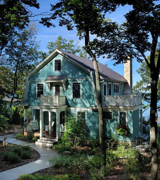 Lake Michigan Luxury Homes: 12 Maisons Typiques Américaines