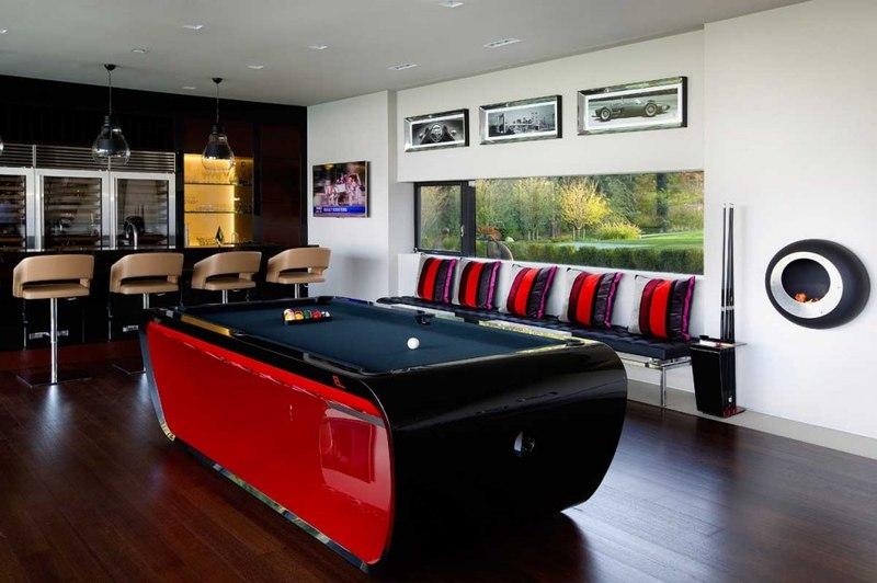 Sands point residence par narofsky architecture long for Billard salon