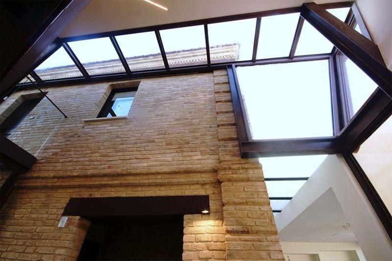 Extension et r novation d une maison en briques du xixe for Extension en verre