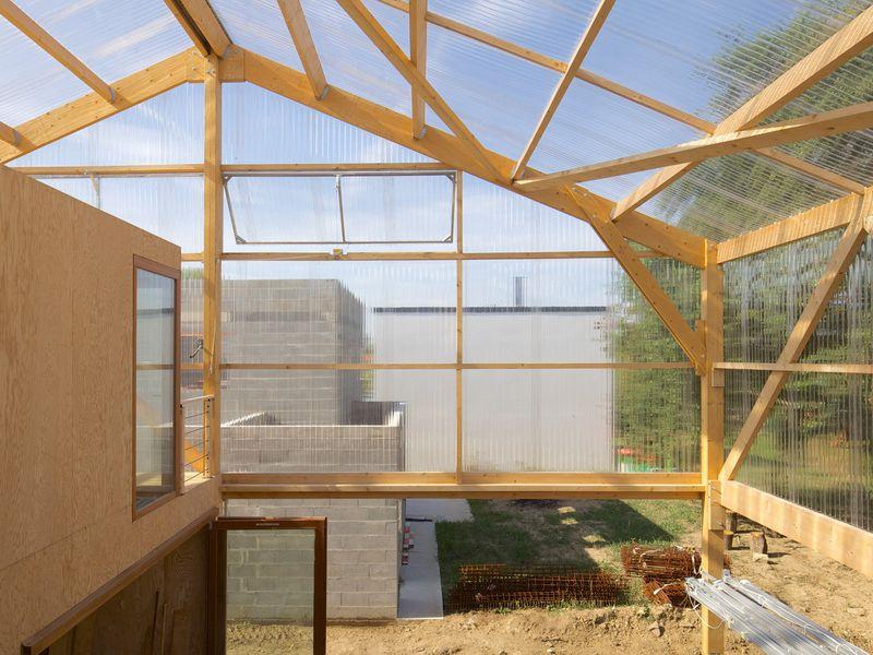 Maison bois contemporaine à façade sud sur rue  Construire Tendance