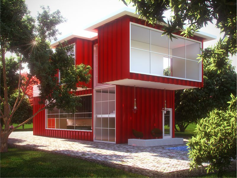 Maison container belgique with maison en container for Container house prix