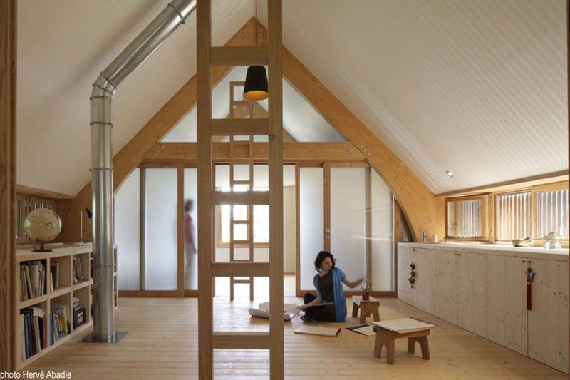 maison bois contemporaine en parfaite relation avec la nature en le de france construire tendance. Black Bedroom Furniture Sets. Home Design Ideas