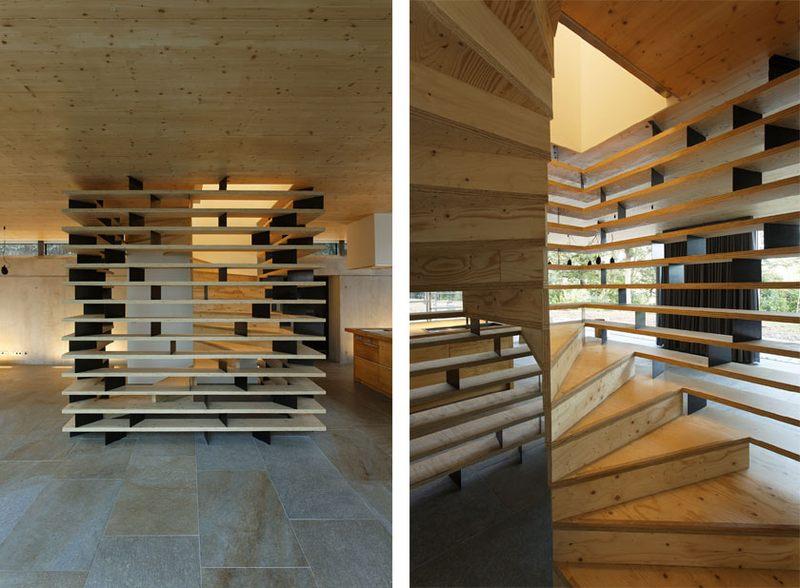 escalier bois – Maison D par Lode Architecture – France – Photo ...
