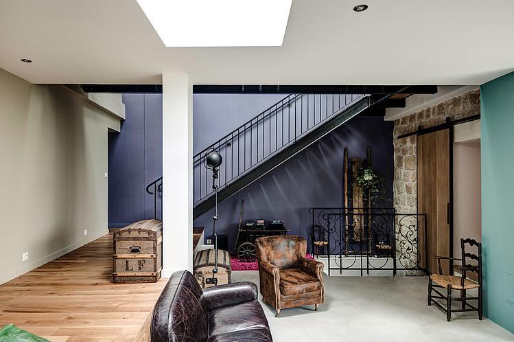 extension contemporaine et r novation par jean philippe dor france construire tendance. Black Bedroom Furniture Sets. Home Design Ideas