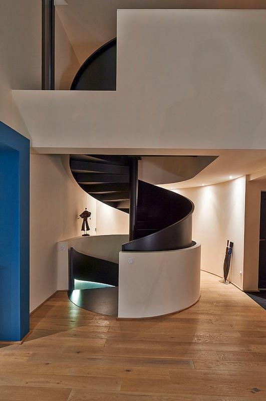 Ha 10 villa contemporaine par hybre architecte en gironde - Escalier maison contemporaine ...