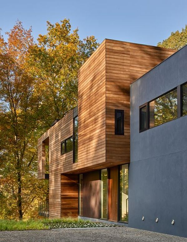 Ravissante maison bois bordant la rivi re potomac aux usa - La maison wicklow hills par odos architects ...