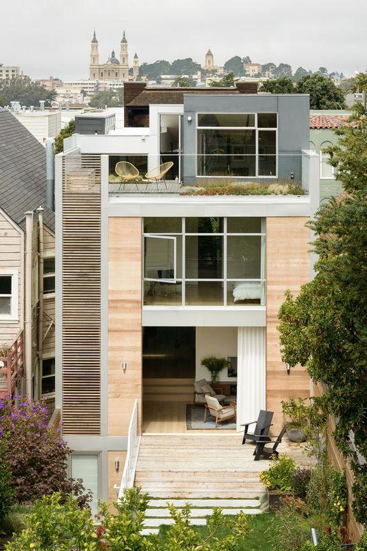 Beaucoup de luminosit pour cette maison urbaine de trois for Feldman architecture
