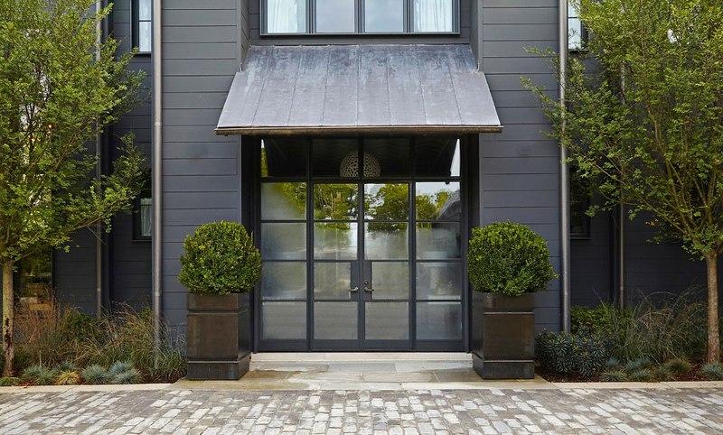 façade entrée – maison bois contemporaine par Architect – Nashville ...