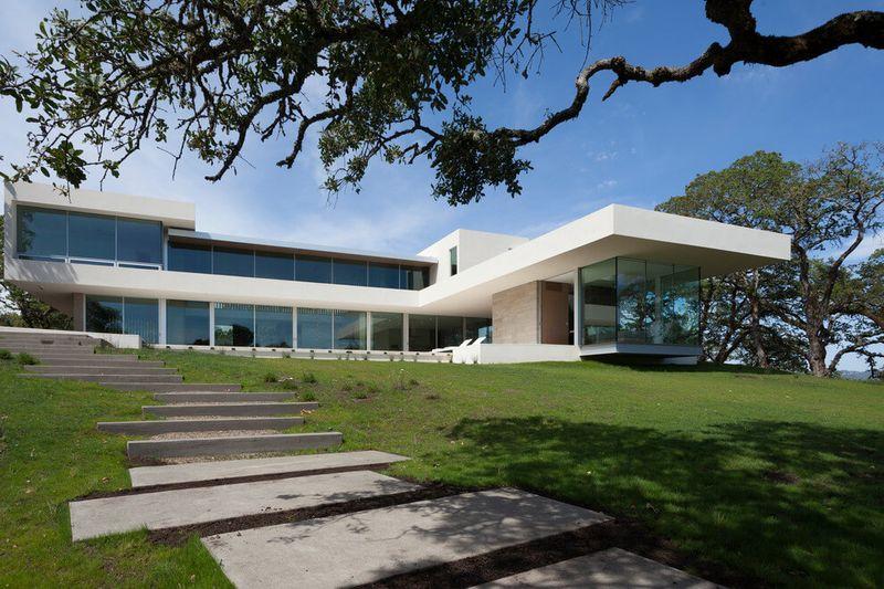 Magnifique r sidence priv e de luxe par e de verre en - Residence inversee studios architecture en californie ...