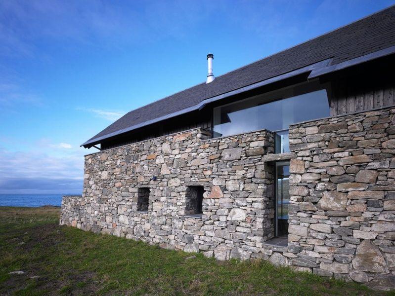 R novation et extension vitr e pour cette maison for Architecture ancienne