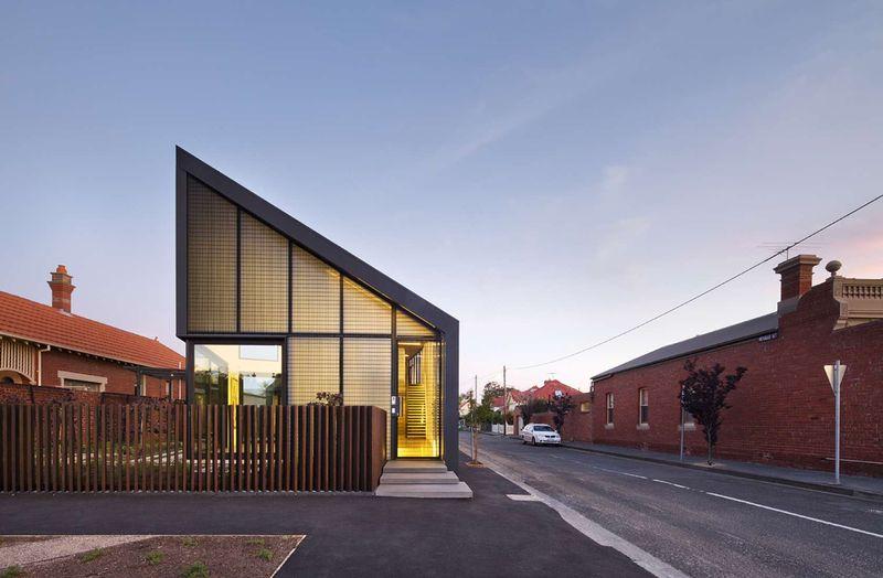 Maison urbaine et son toit aux formes originales en australie construire tendance - Melbourne maison moderne australie ...