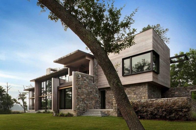 Sc modern i par sbch architects bray s island sheldon for Pierre et bois construction