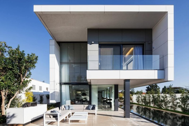 Maison contemporaine b ton par ron aviv tel aviv isra l for Facade contemporaine
