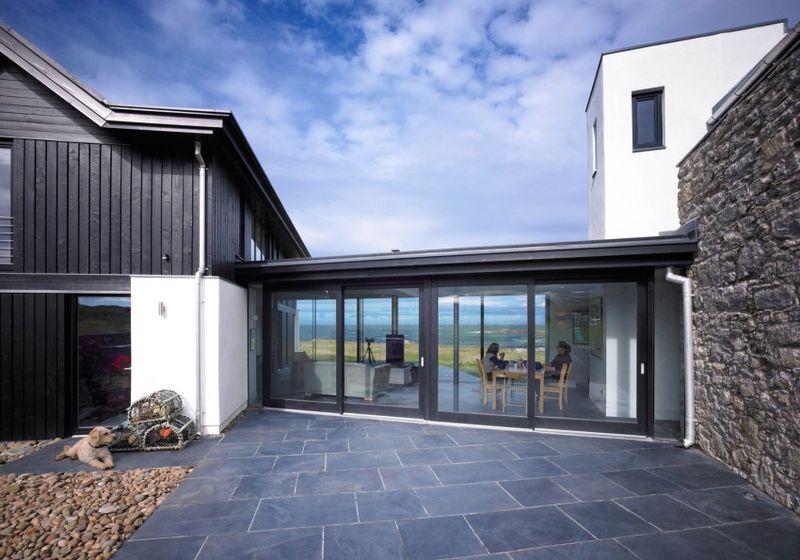 R novation et extension vitr e pour cette maison for Home architecture uk