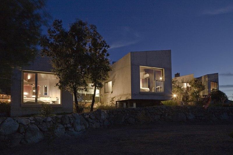 façades de nuit – maisons contemporaines par Bona-Lemercier ...