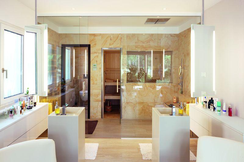 Maison contemporaine lumineuse et basse consommation en for Salle de bain allemagne