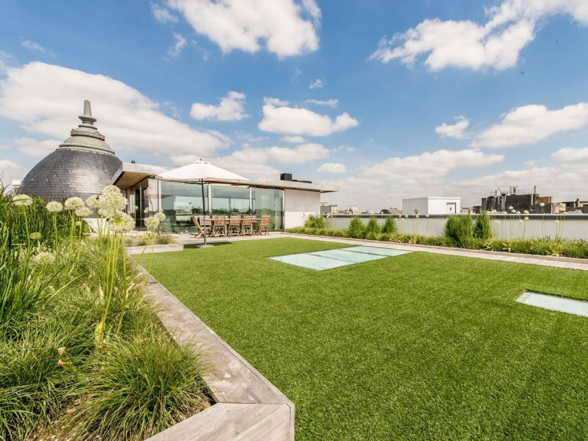 Sur l vation vue 360 degr s bruxelles belgique construire tendance - Jardin suspendu brussels montpellier ...