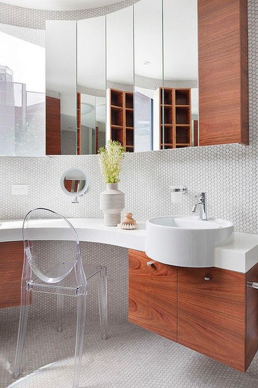 Maison contemporaine bois b ton par bg architecture for Salle de bain bois et beton