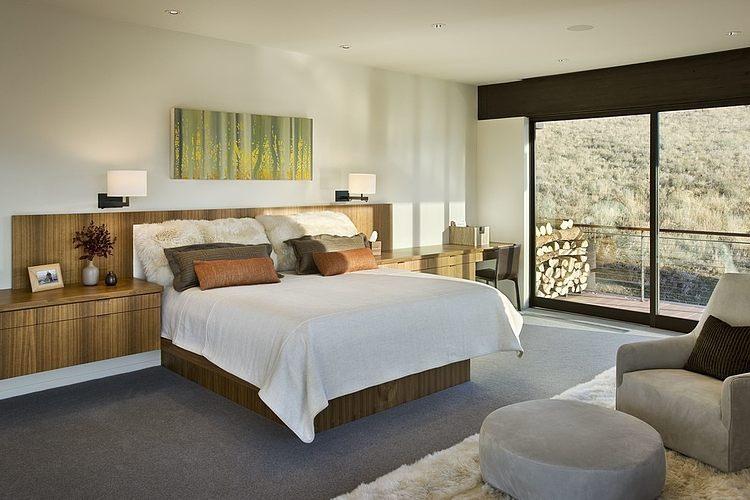 maison bois et pierre contemporaine par marmol radziner sun valley usa construire tendance. Black Bedroom Furniture Sets. Home Design Ideas