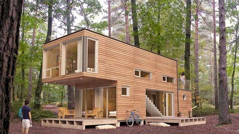 maison bois ou container