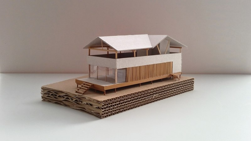 Maquette En Carton – House In Playa Del Carmen Par Yupana