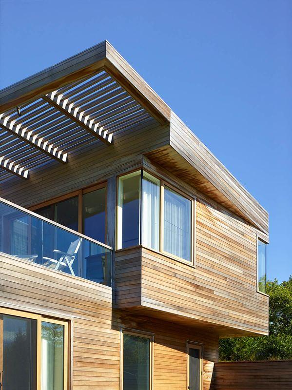 splendide maison contemporaine en bois et son toit terrasse aux usa construire tendance. Black Bedroom Furniture Sets. Home Design Ideas