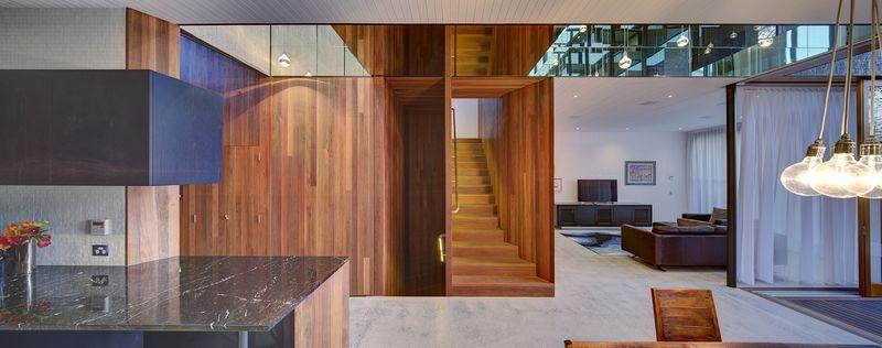 maison contemporaine urbaine de briques et de bois en australie construire tendance. Black Bedroom Furniture Sets. Home Design Ideas