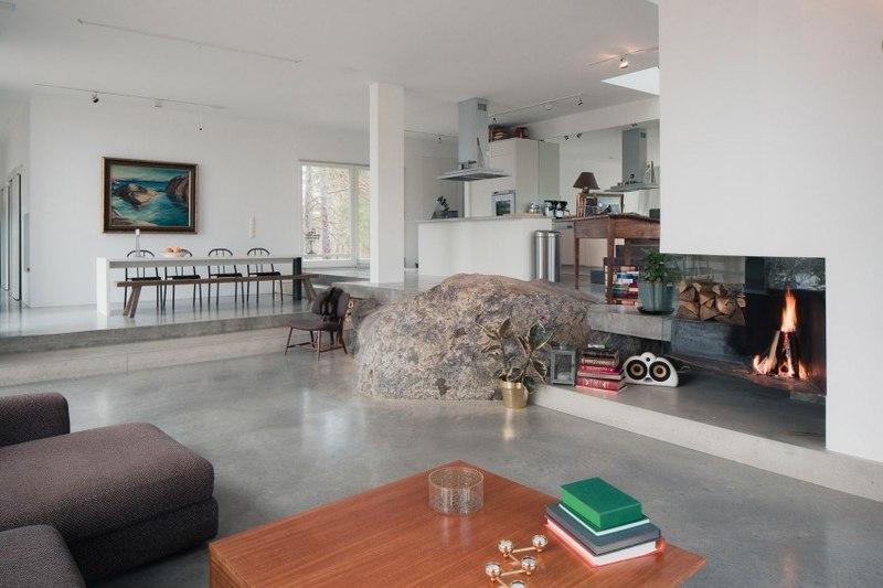 Decoration Cuisine Verriere : pierre et cheminée  maison bois contemporaine par Gabriel Minguez