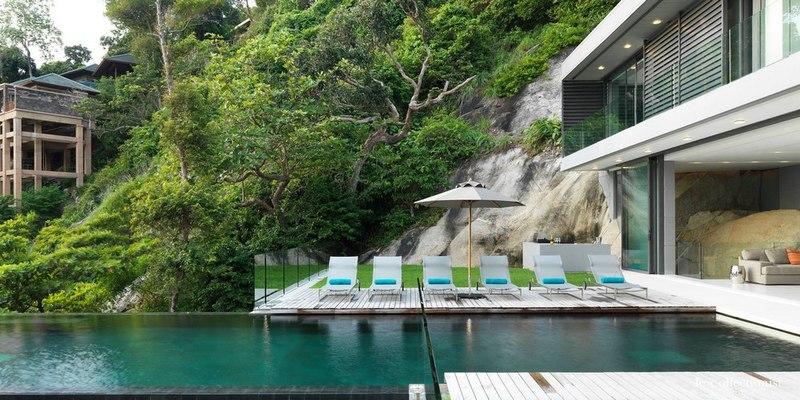 Piscine et terrasse villa kamala phuket tha lande for Piscine a debordement thailande