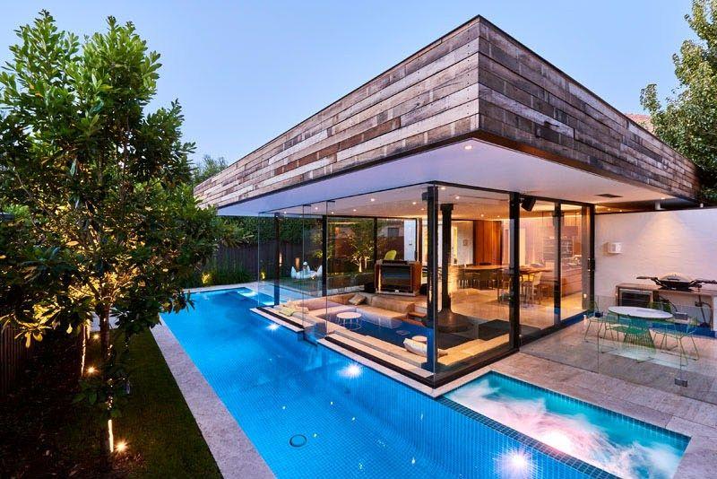 Superbe extension pour l am nagement d une piscine et d un for Piscine home design