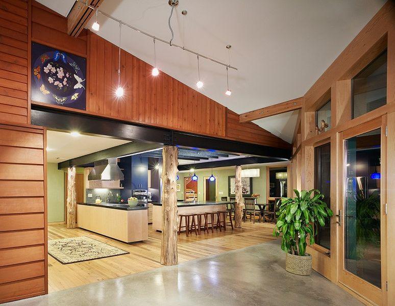 maison contemporaine r nov e avec go t en virginie construire tendance. Black Bedroom Furniture Sets. Home Design Ideas