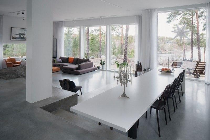 Maison bois contemporaine par gabriel minguez ingar for Amenagement interieur salon sejour