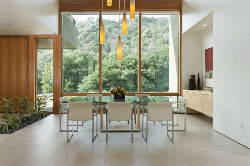 Superbe maison bois et b ton en pleine zone rurale aux usa construire tendance - Grande baie vitree ...
