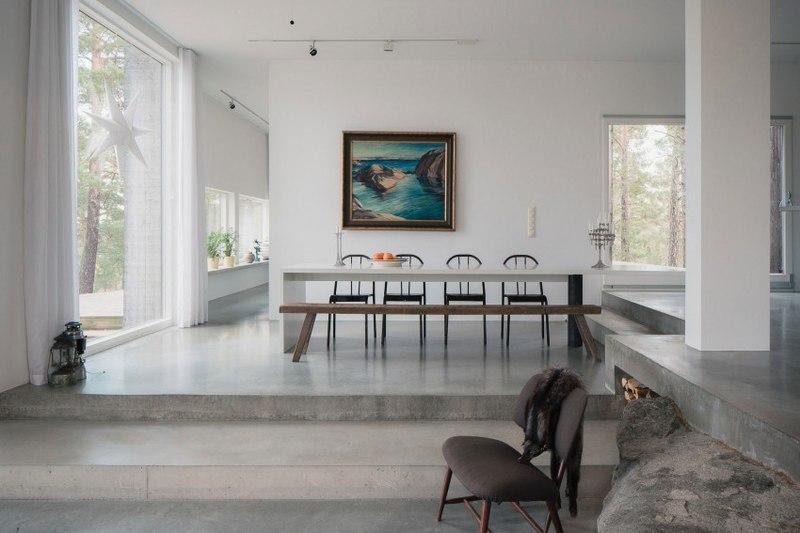 Decoration Cuisine Verriere : séjour  maison bois contemporaine par Gabriel Minguez  Ingarö