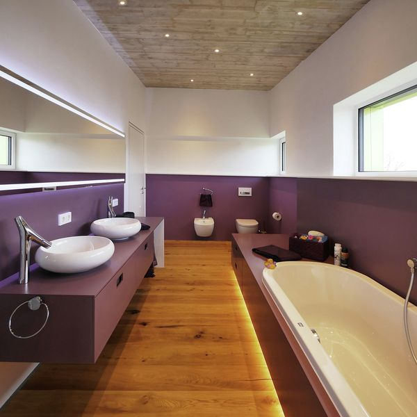 Admirable maison bois contemporaine co con ue en for Salle de bain allemagne