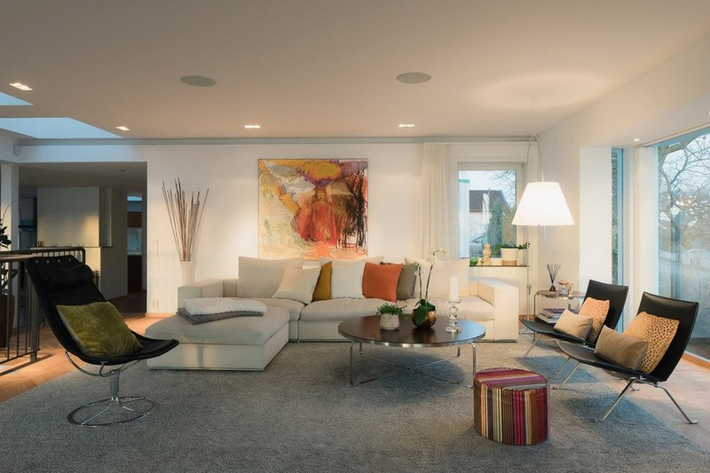Salon maison contemporaine scandinave par boris culjat for Salon de maison