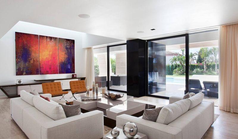 Architecture originale sur une maison moderne avec grande - Salones joaquin torres ...