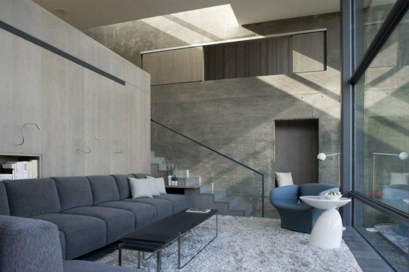 Maison contemporaine b ton par cooper joseph studio - La residence eb par replinger hossner architects ...
