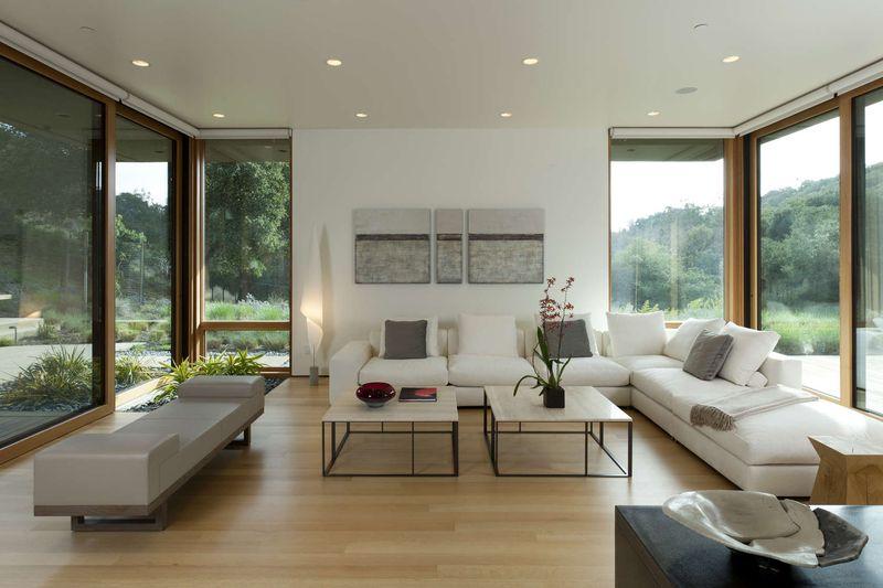 Superbe maison bois et b ton en pleine zone rurale aux usa construire tendance for Maison moderne avec grande baie vitree