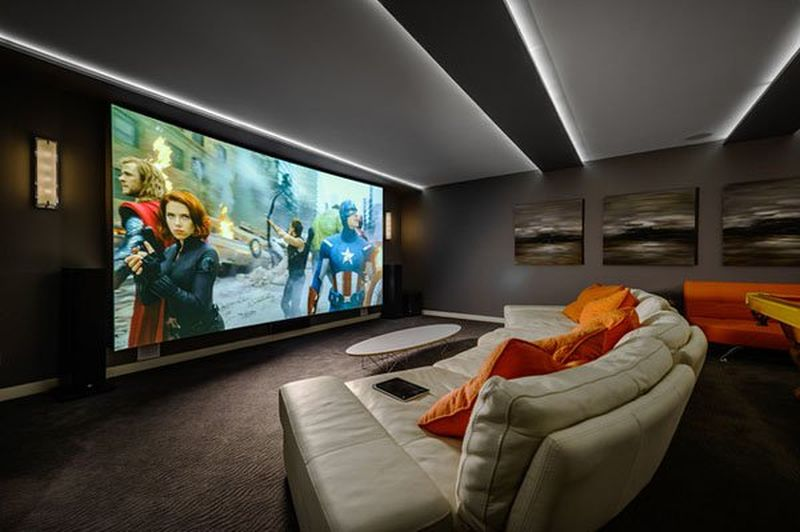 Le cin ma la maison en 10 exemples spectaculaires for House plans with media room