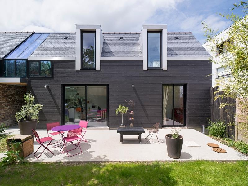Beliebt Maison bois contemporaine par Clément Bacle à Rennes, France  OV97