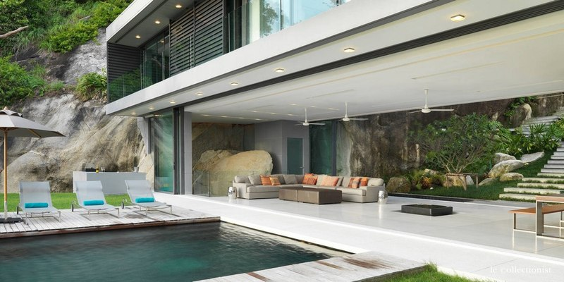 Villa kamala la location phuket tha lande for Salon ouvert sur terrasse