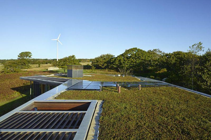 Toit Terrasse Végétalisé : Splendide maison contemporaine en bois et son toit