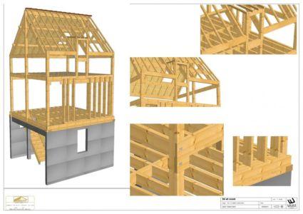 3d et zoom - Agrandissement surévélavation par atelier 100 architecture - Tours, France
