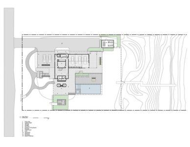 plan de masse - Ocean Deck House par Stelle Lomont Rouhani Architects - Bridgehampton, USA