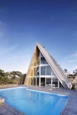 A-Frame Residence par Bromley Caldari Architects - Fire Island, USA
